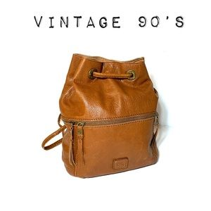 Vintage 90's Leather Sak backpack bag